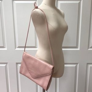 Vintage blush pink snakeskin purse real leather
